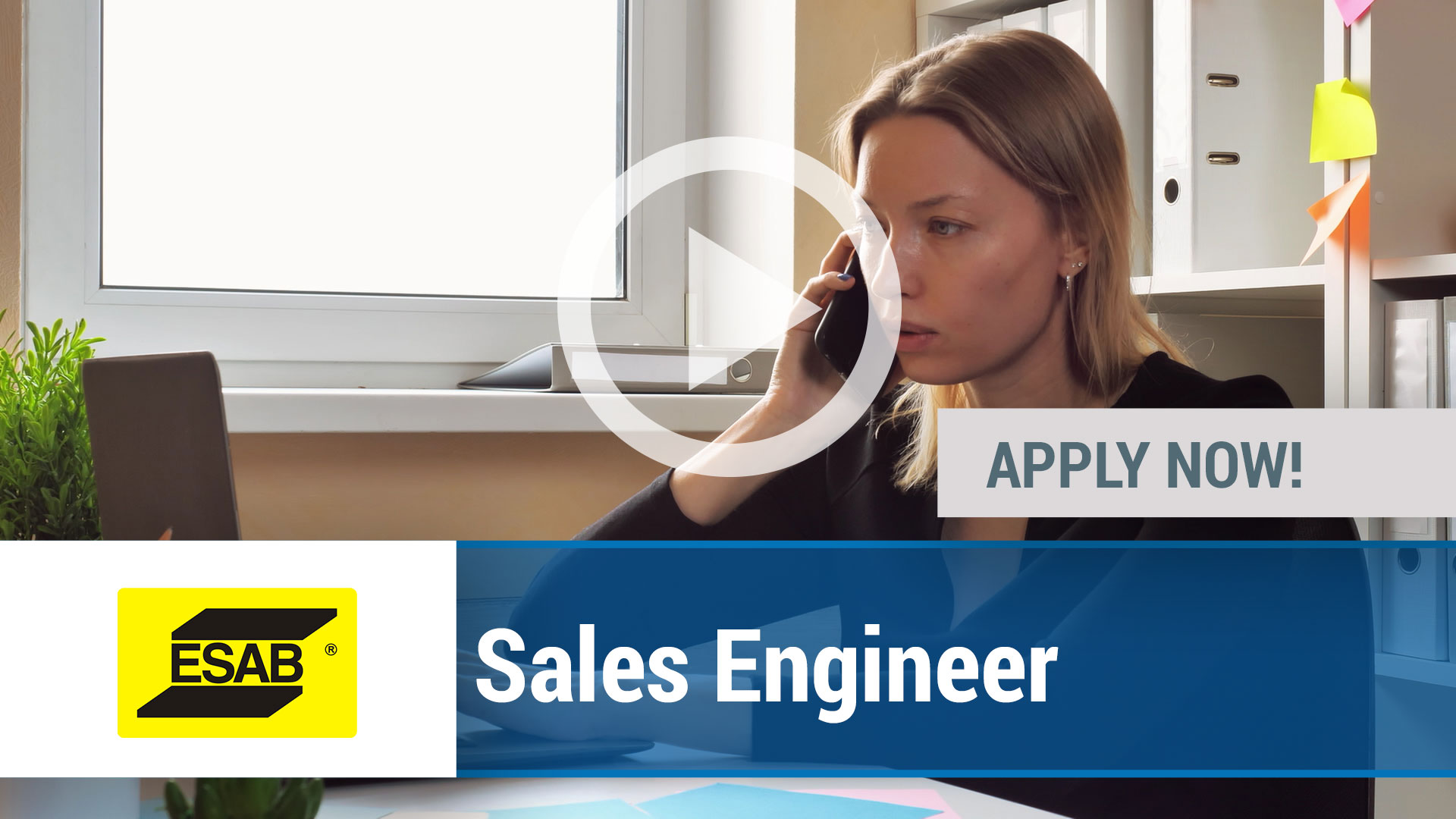 Watch our careers video for available job opening Sales Engineer in Multiple Locations