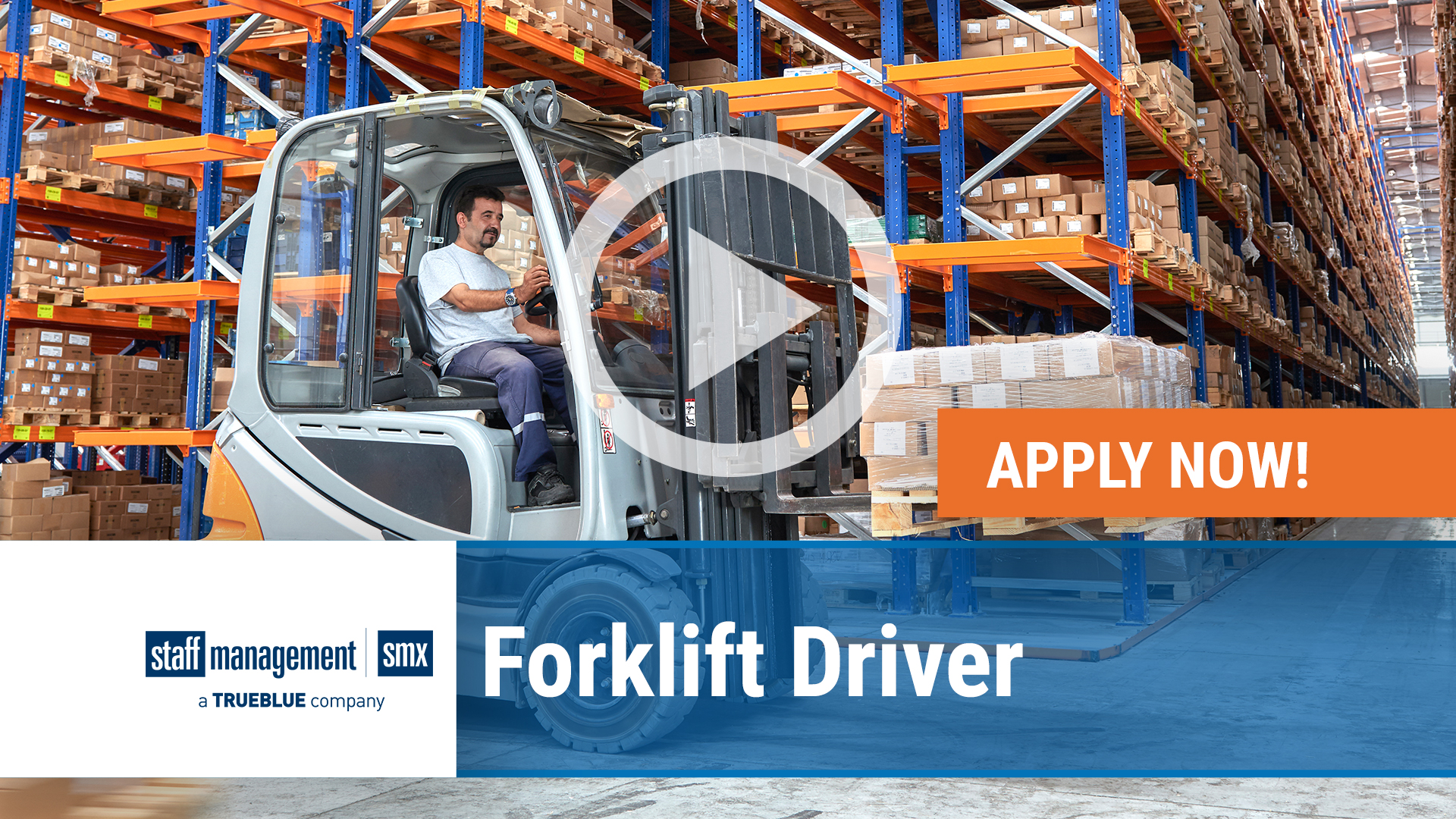 Watch our careers video for available job opening Forklift Driver in US in nationwide, USA