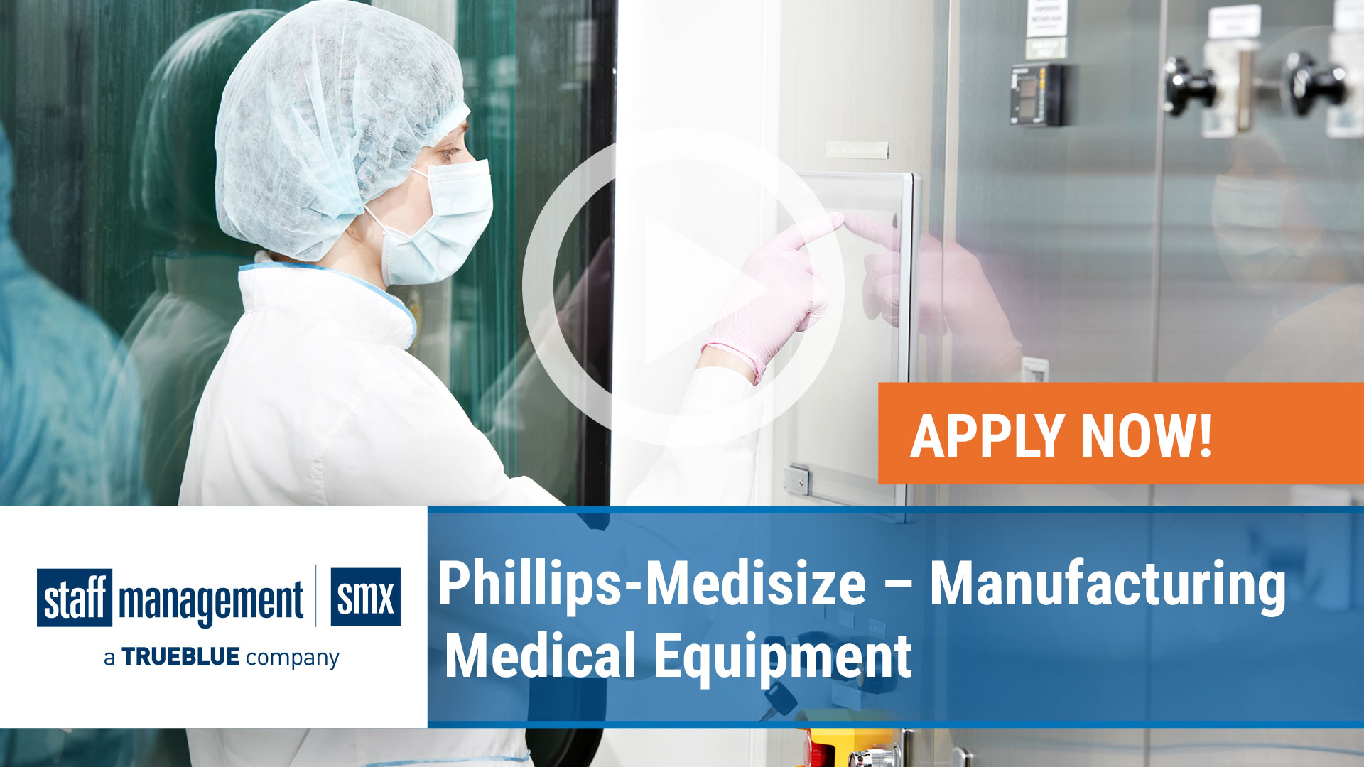 Watch our careers video for available job opening Phillips-Medisize – Manufacturing Medical Equipme in Various Offices in Northern W
