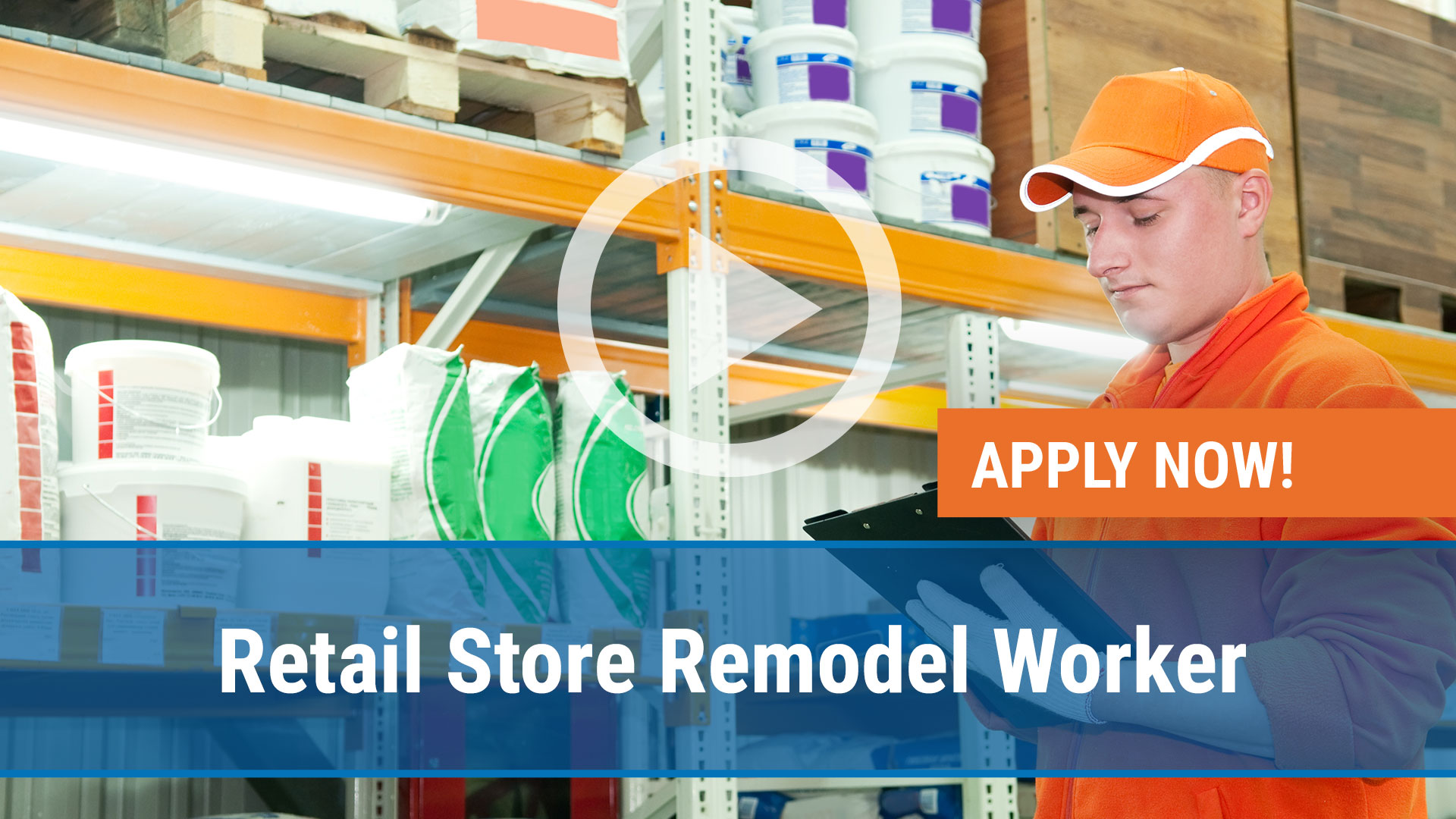 Watch our careers video for available job opening Retail Store Remodel Workers in Canal Winchester, OH, USA