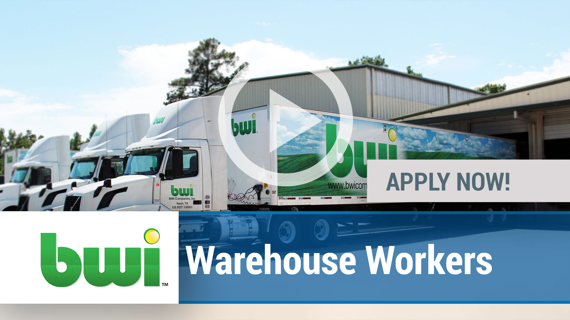 Watch our careers video for available job opening Warehouse in Schulenburg, TX, USA