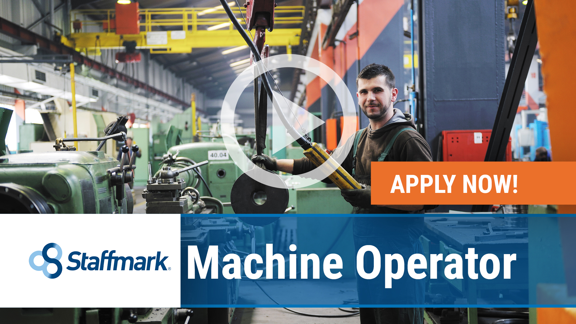 Watch our careers video for available job opening Machine Operator in Auburn, WA