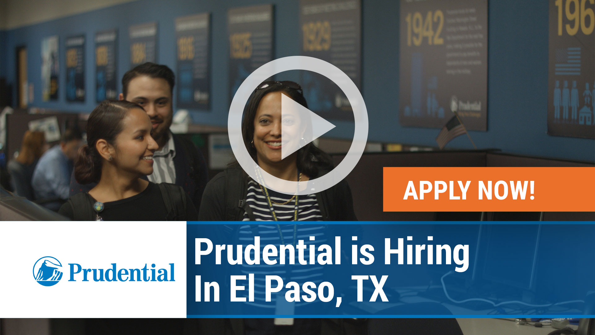 Watch our careers video for available job opening Prudential is hiring in El Paso, TX in El Paso, TX