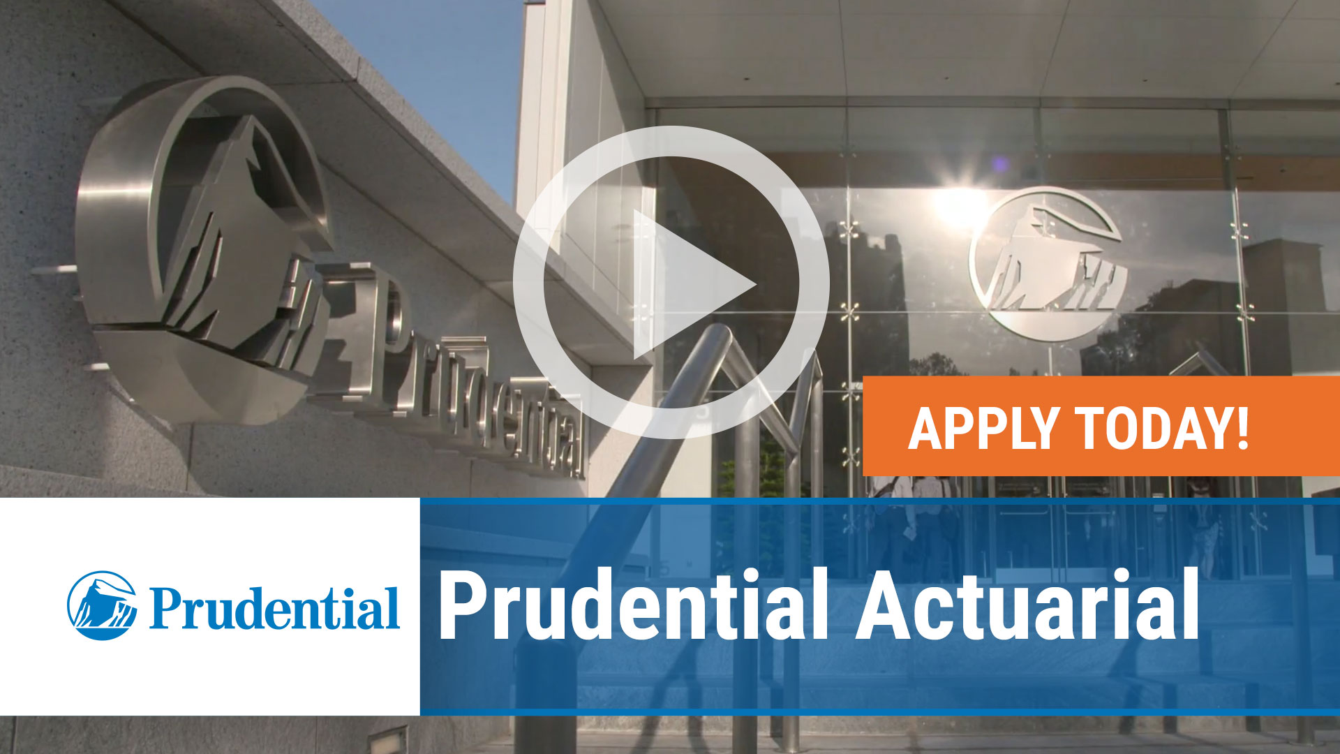Watch our careers video for available job opening Prudential Actuarial in Iselin, NJ