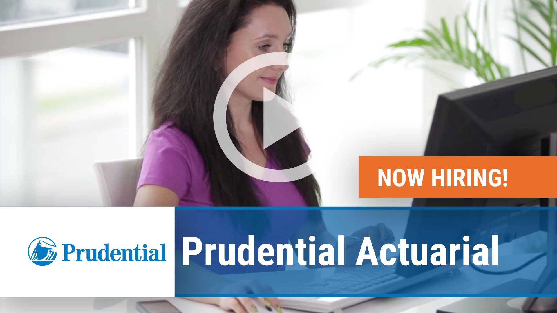 Watch our careers video for available job opening Prudential Actuarial in Newark NJ, Hartford CT