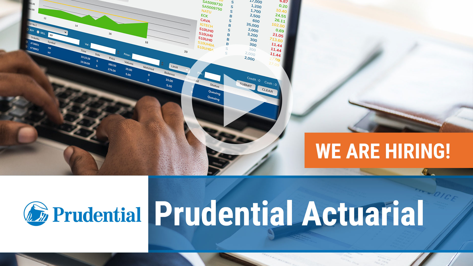 Watch our careers video for available job opening Prudential Actuarial in Roseland, NJ
