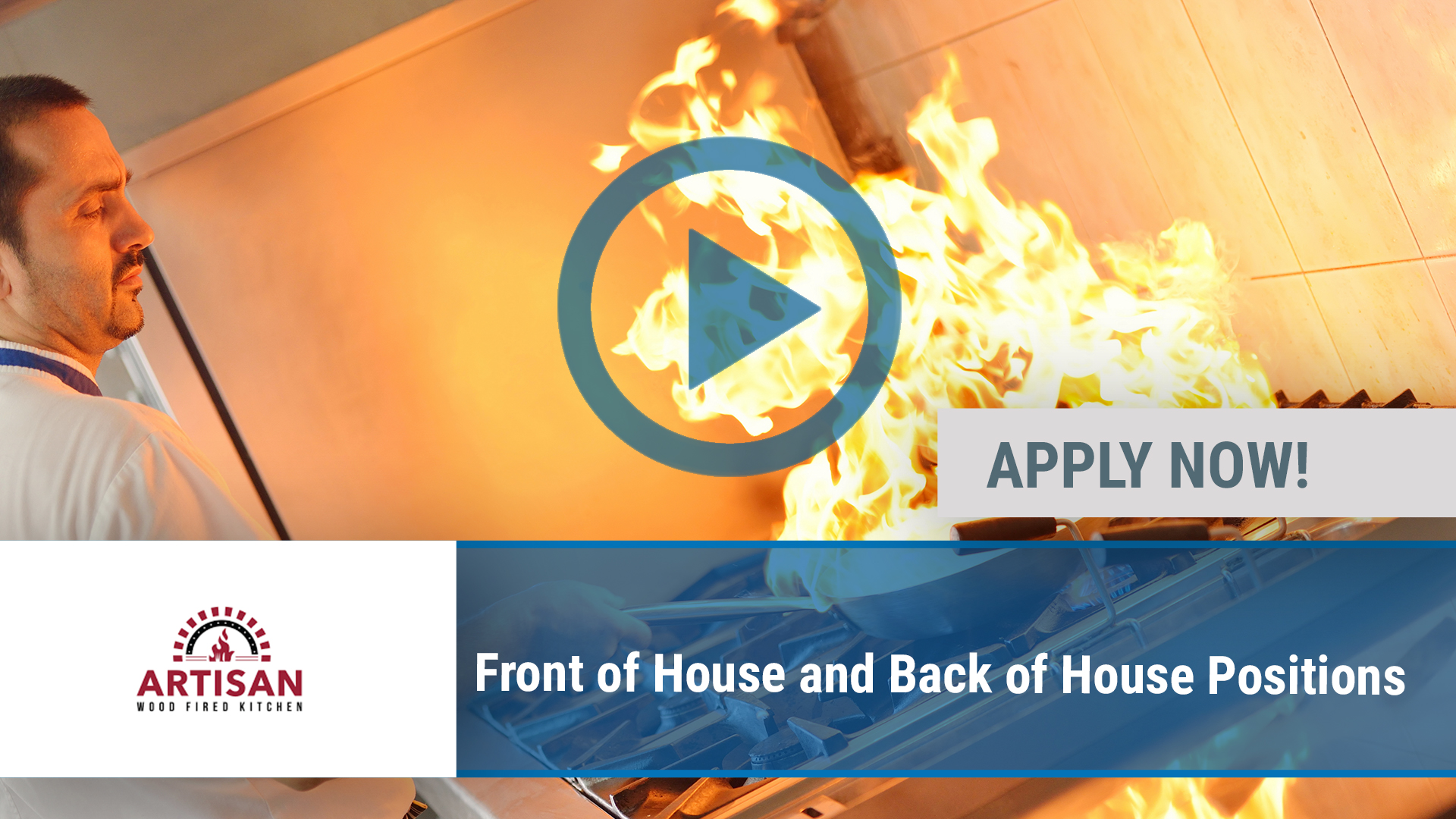 Watch our careers video for available job opening Front of House and Back of House Positions in Rogers, AR