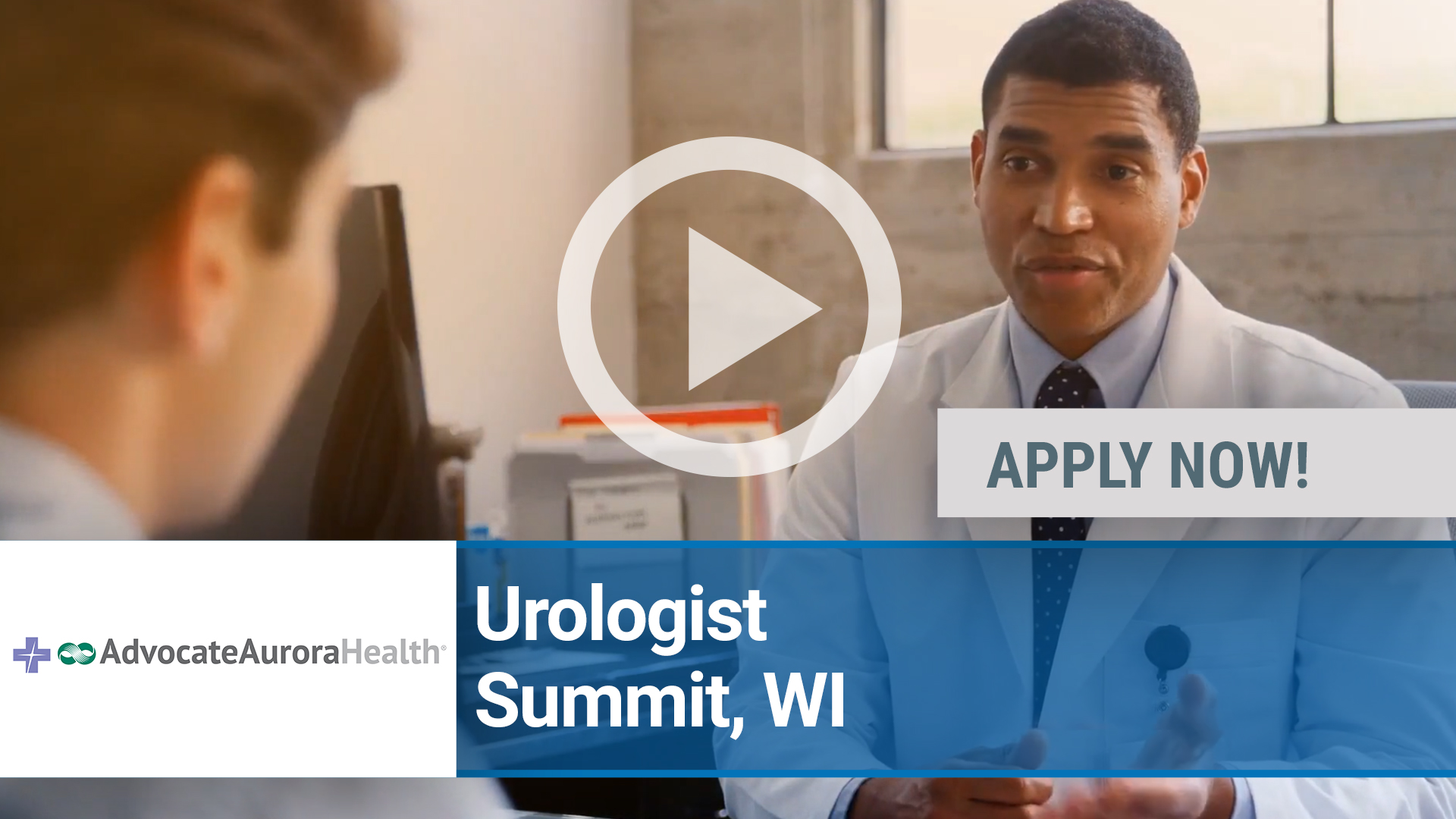 Watch our careers video for available job opening BC_BE Physician Urology in Summit, WI
