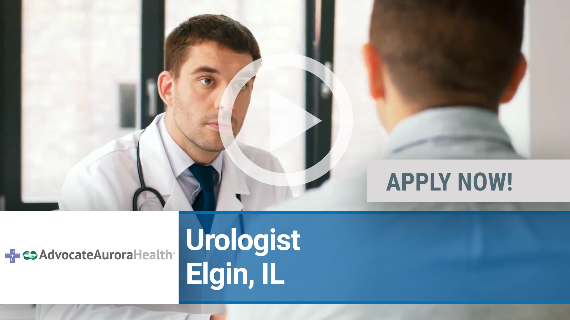 Watch our careers video for available job opening BC_BE Physician Urology in Elgin, IL