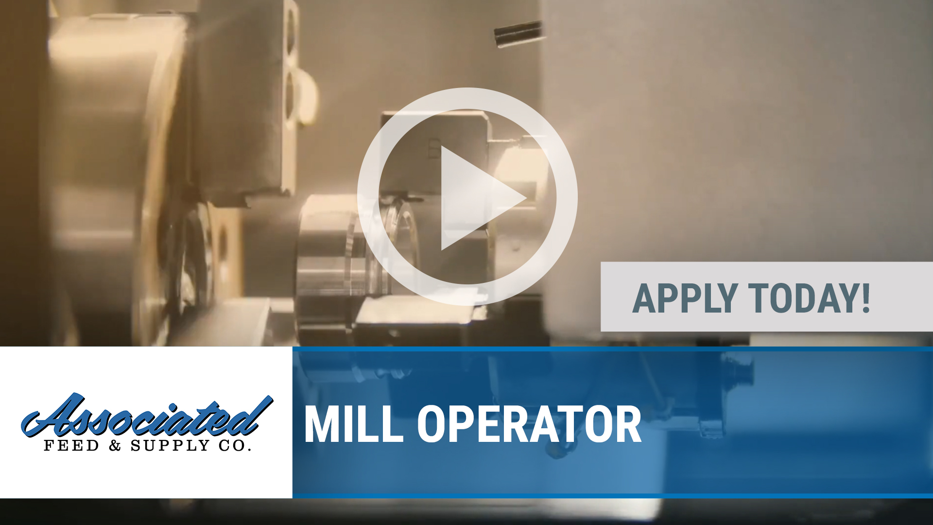 Watch our careers video for available job opening MILL OPERATOR in Turlock, CA