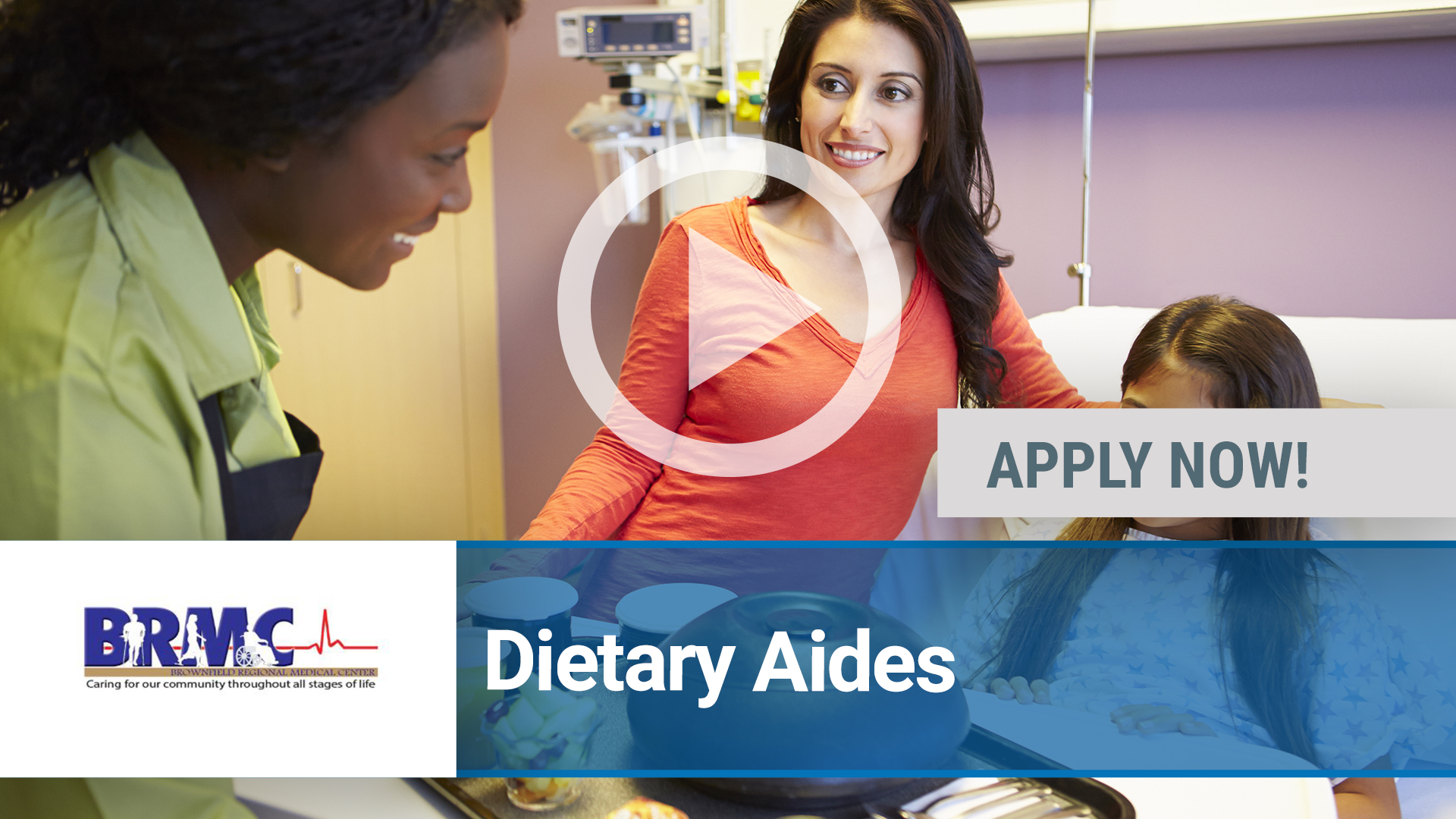 Watch our careers video for available job opening Dietary Aides in Lubbock, TX