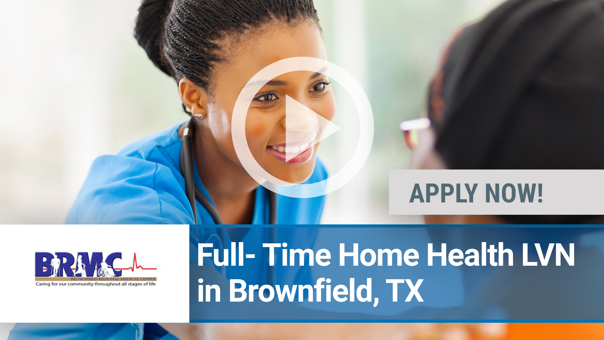 Watch our careers video for available job opening Full- Time Home Health LVN in Brownfield, TX in Amarillo, TX