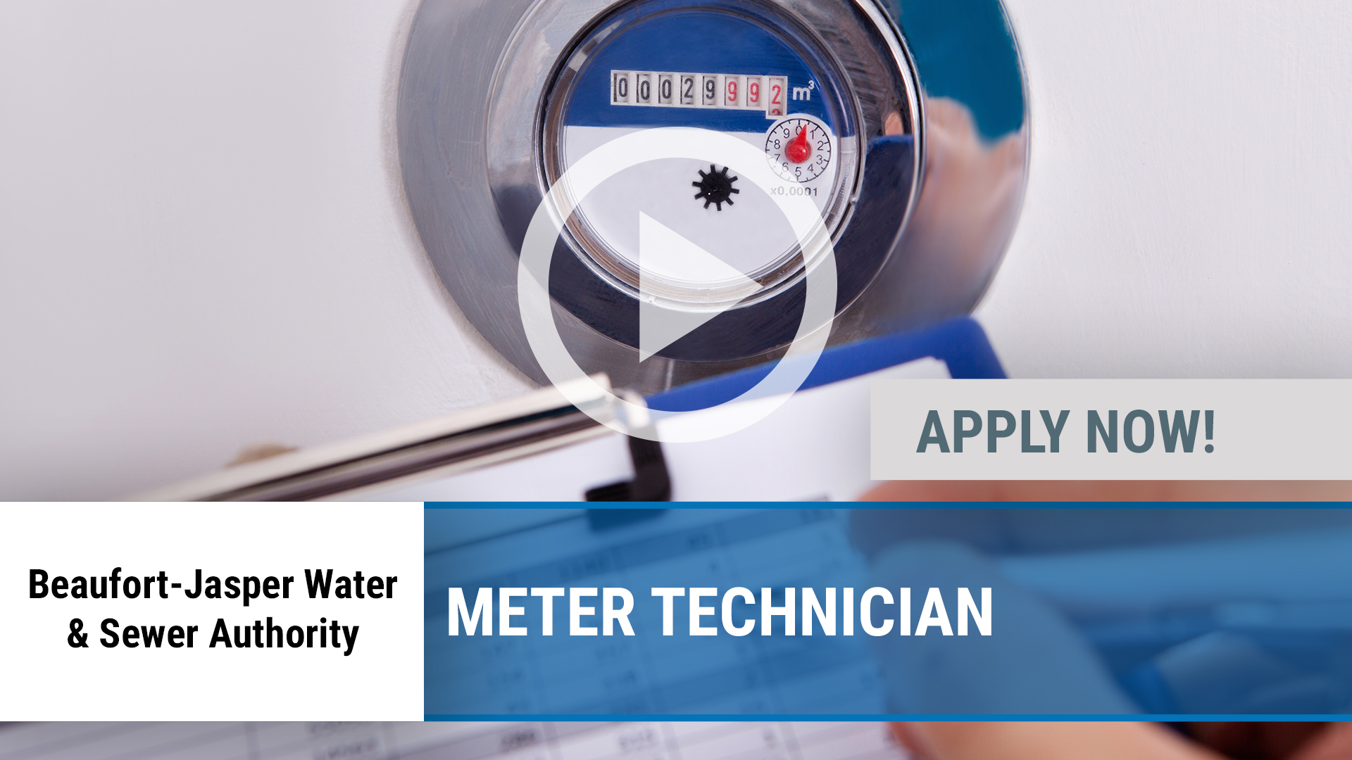 Watch our careers video for available job opening Meter Technician in Okatie, SC