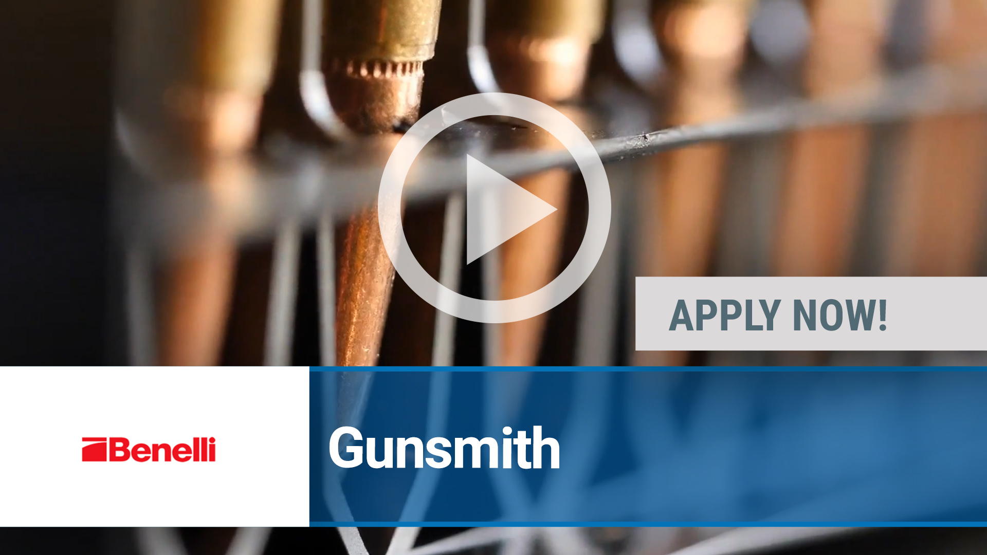 Watch our careers video for available job opening Gunsmith in Pocomoke, MD, USA