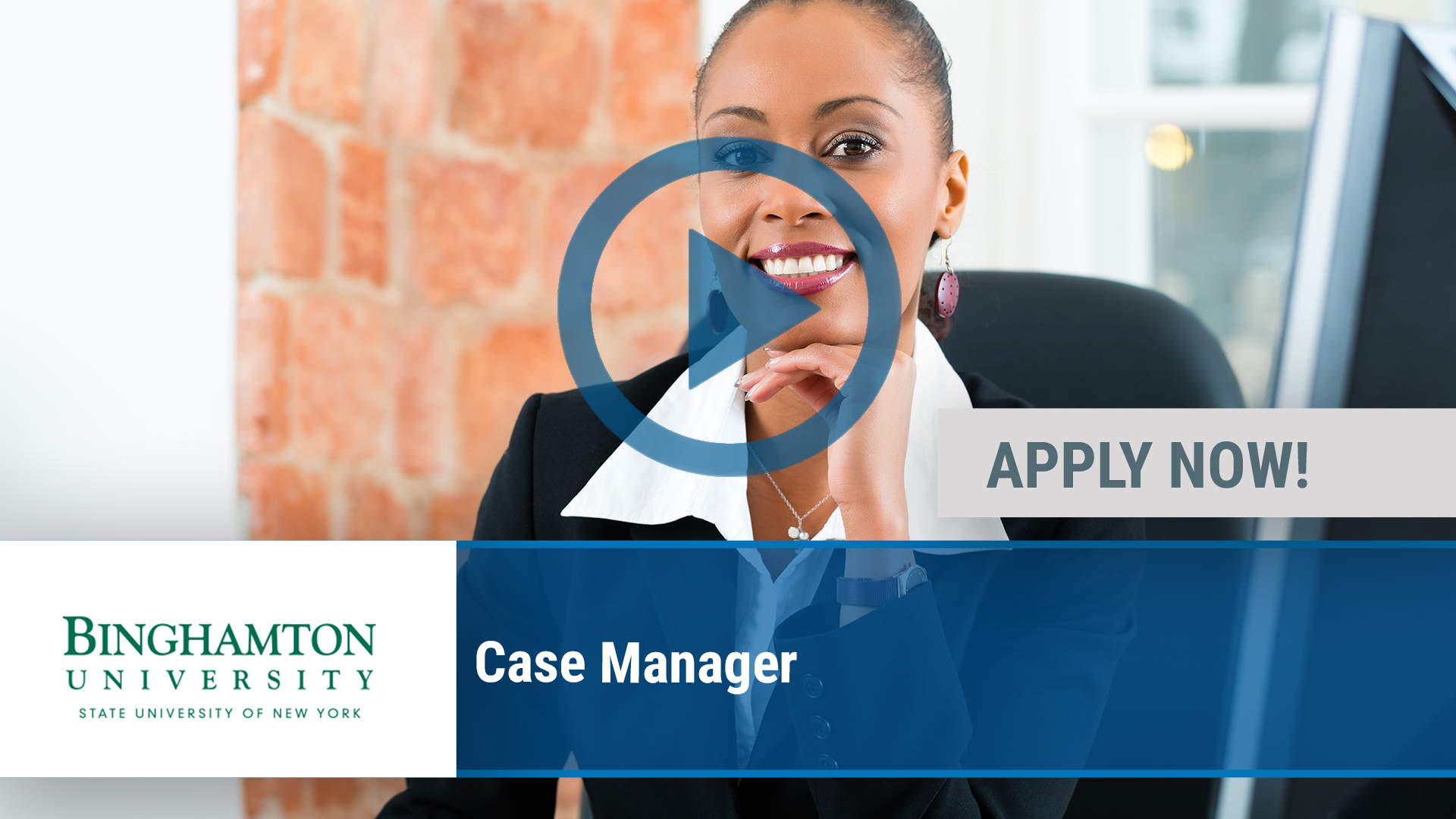 Watch our careers video for available job opening Case Manager in Binghamton, NY