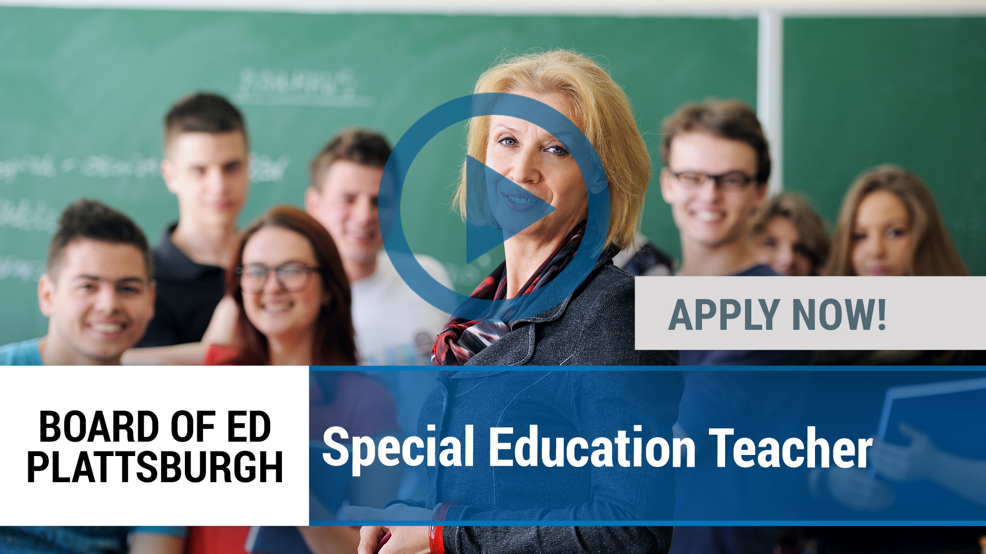 Watch our careers video for available job opening Special Education Teacher Assistant in Plattsburgh, NY