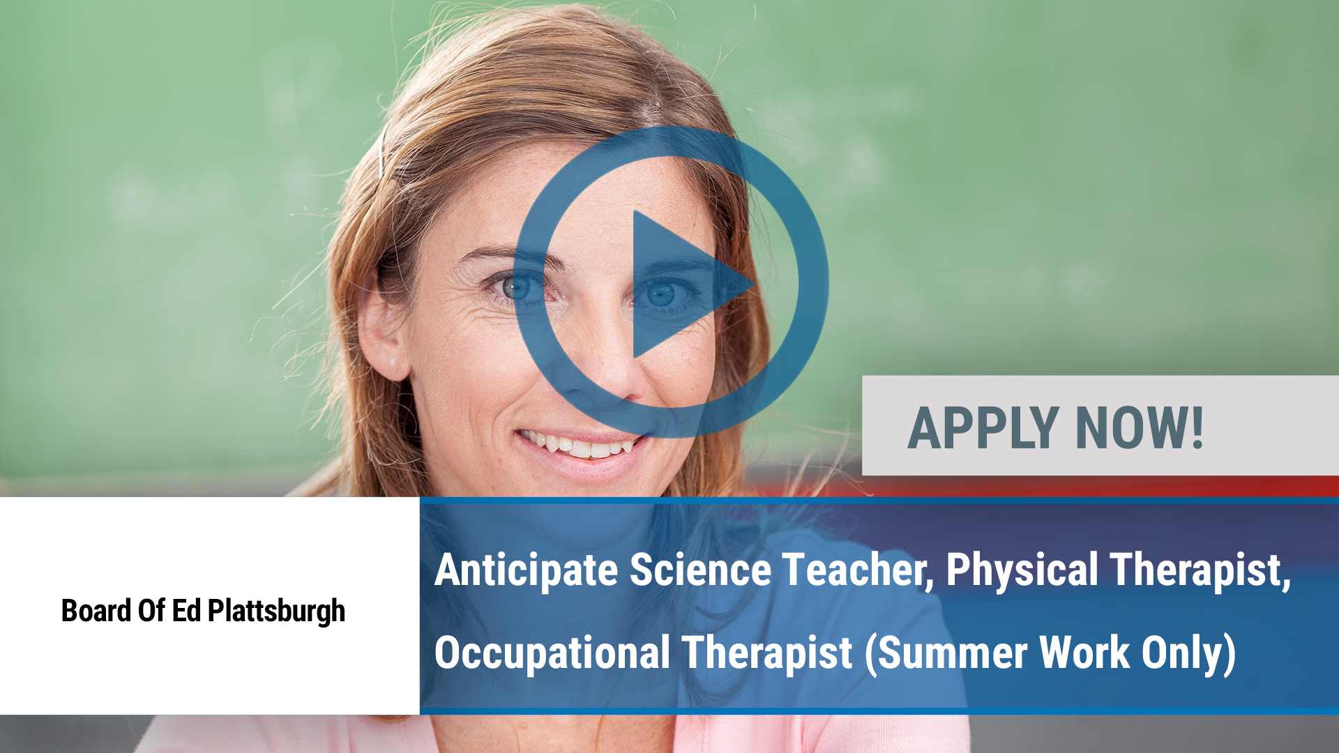 Watch our careers video for available job opening Anticipate Science Teacher, Physical Therapist, O in Plattsburgh, NY