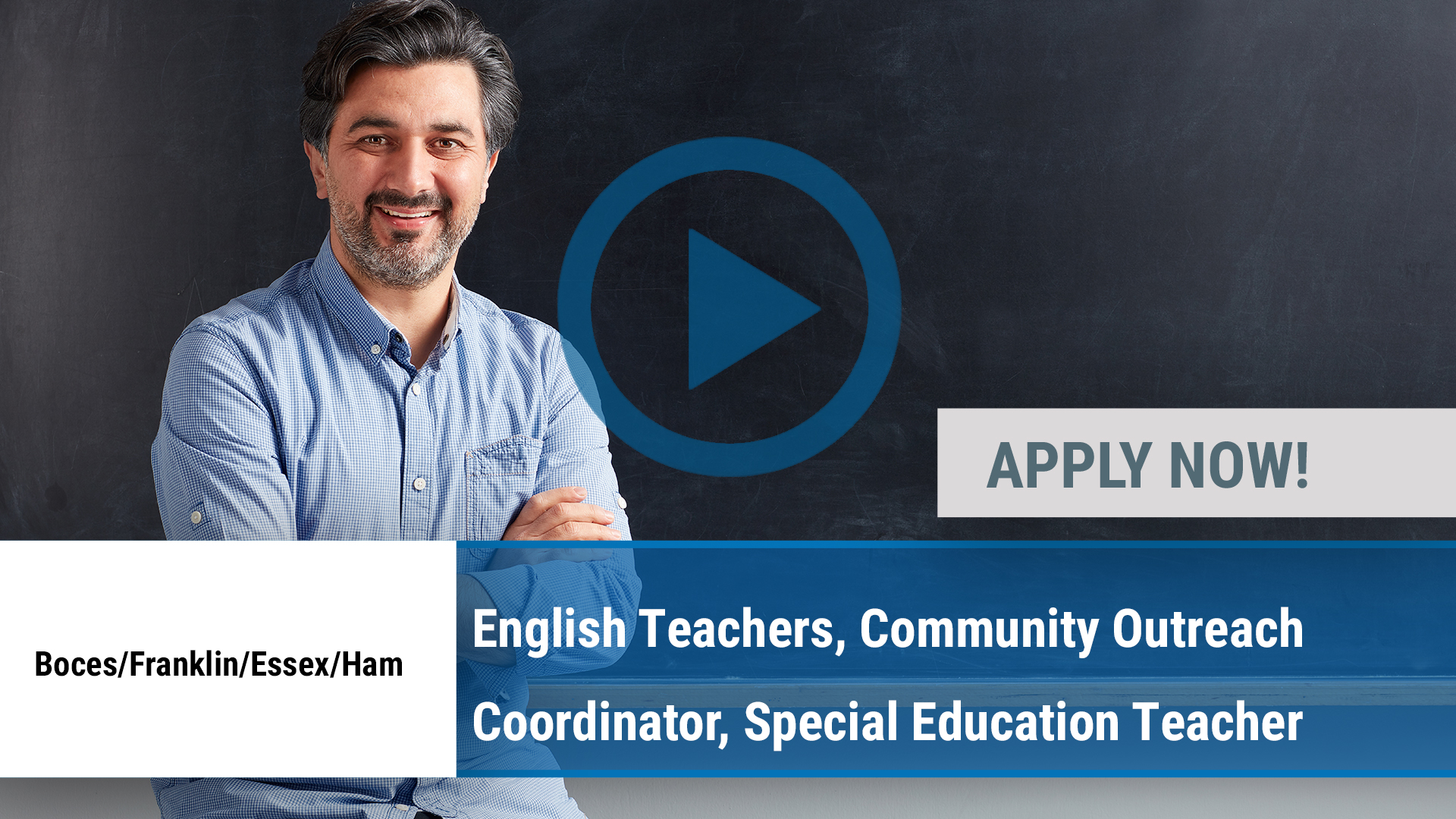 Watch our careers video for available job opening English Teachers, Community Outreach Coordinator, in Malone, NY