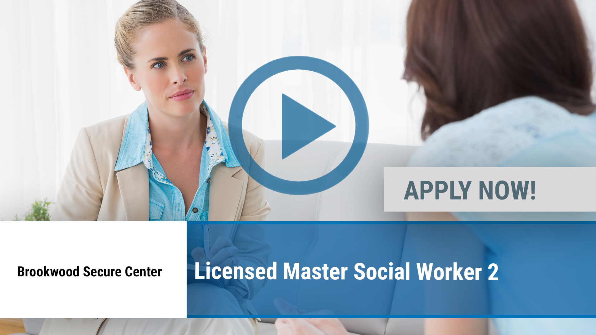 Watch our careers video for available job opening Licensed Master Social Worker 2 in Claverack, NY