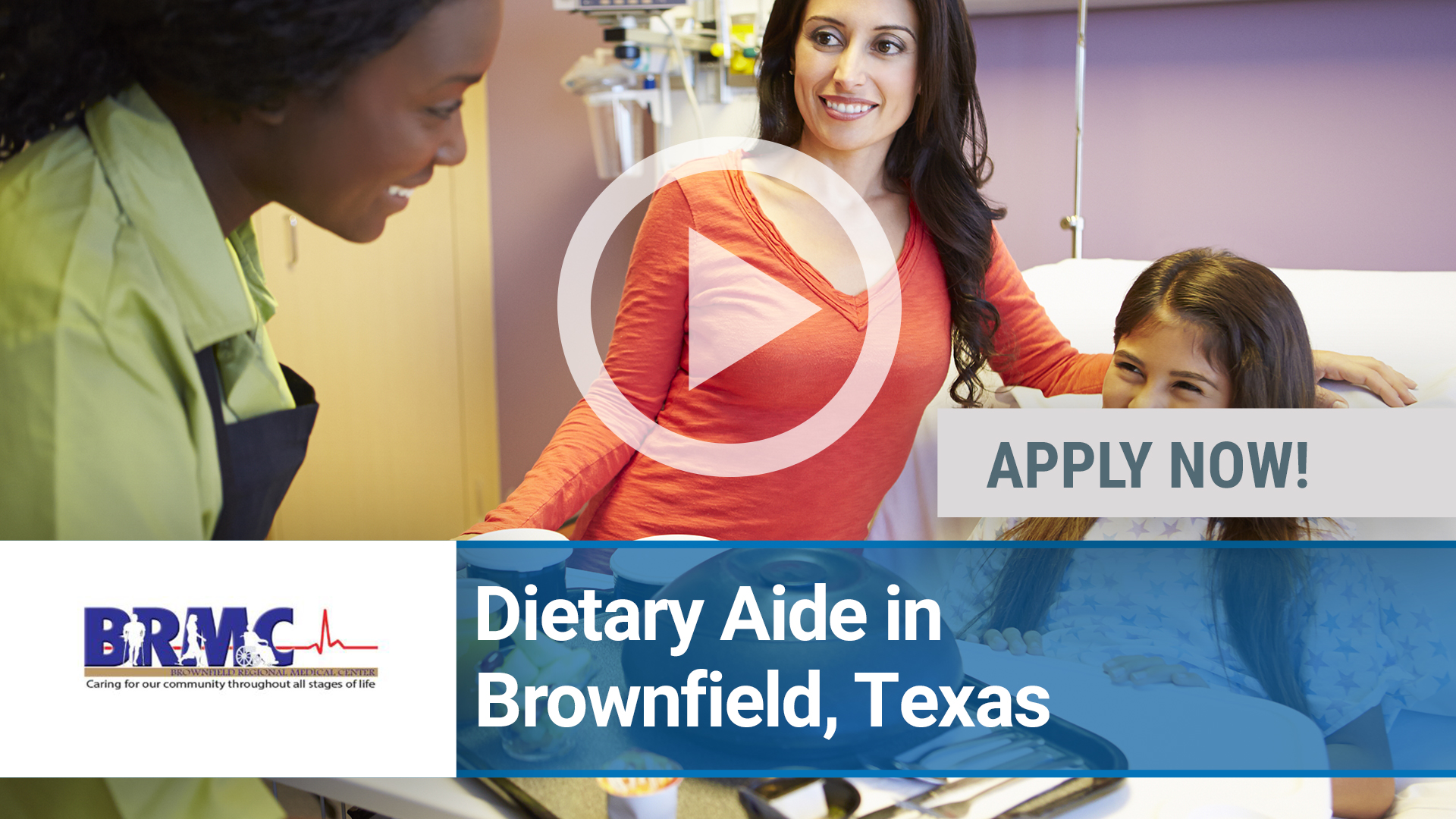 Watch our careers video for available job opening Dietary Aide in Brownfield, Texas in Amarillo, TX