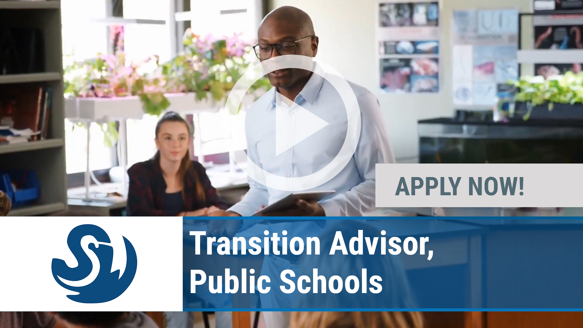 Watch our careers video for available job opening Transition Advisor, Public Schools in Charlotte, NC