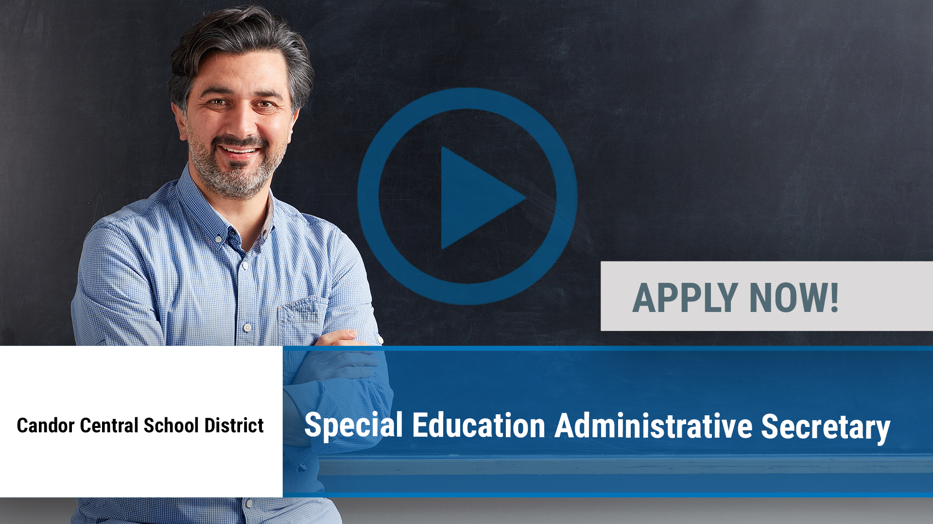 Watch our careers video for available job opening Special Education Administrative Secretary in Candor, NY