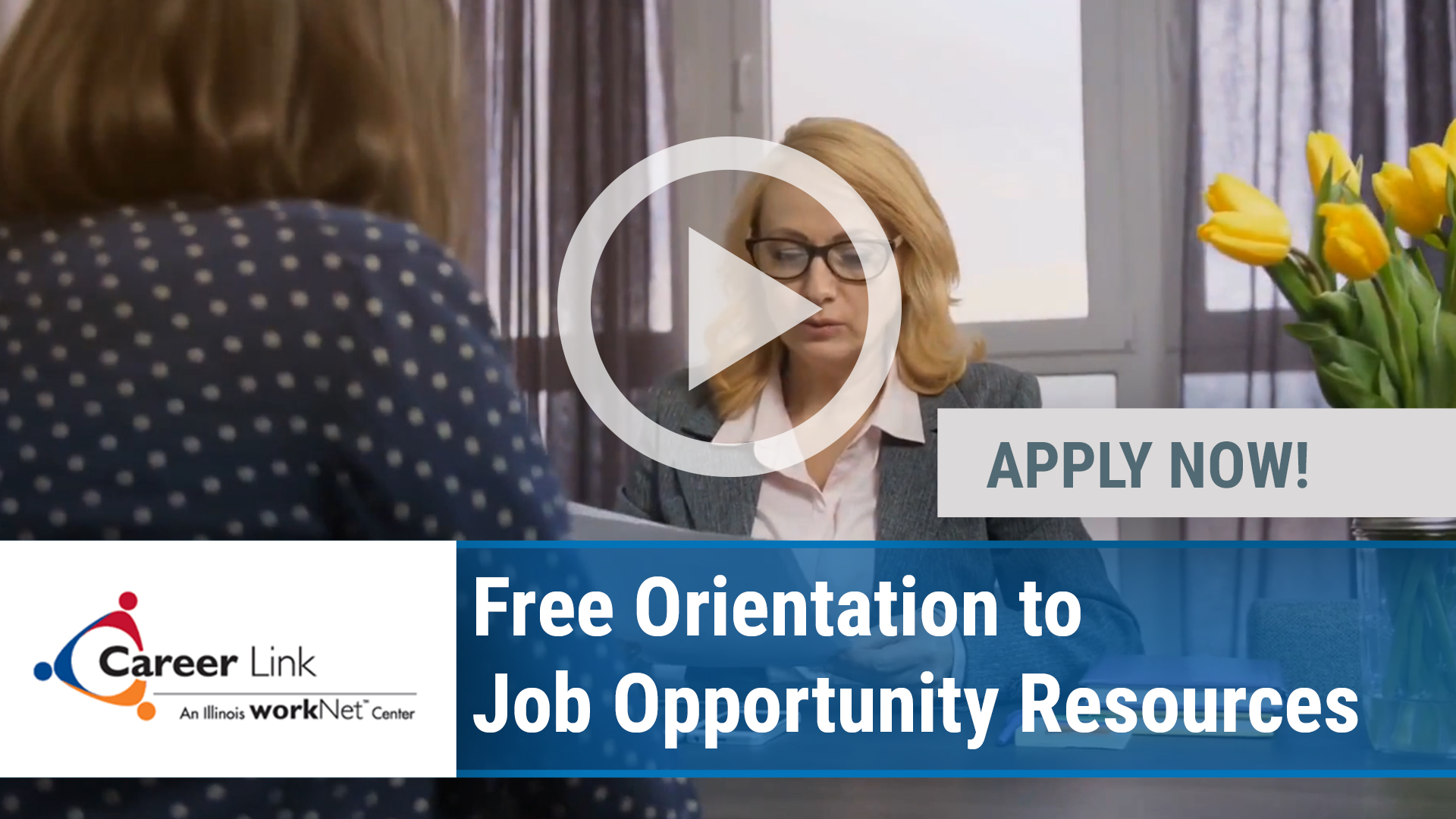 Watch our careers video for available job opening Free Orientation to Job Opportunity Resources in Peoria, IL