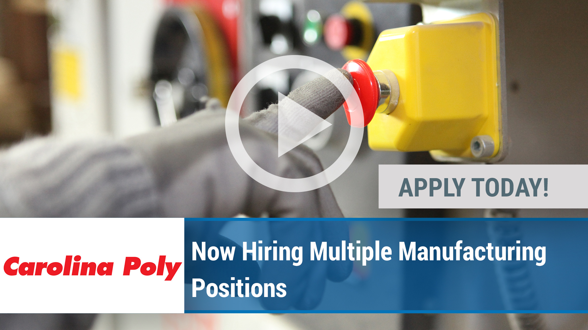 Watch our careers video for available job opening Now Hiring Multiple Manufacturing Positions in Chester, SC