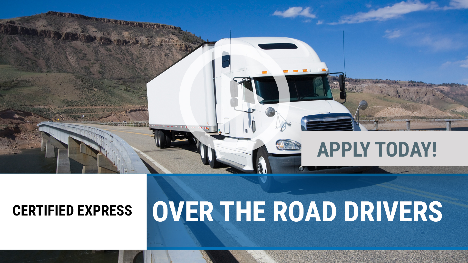 Watch our careers video for available job opening Over the Road Drivers in Joplin, MO