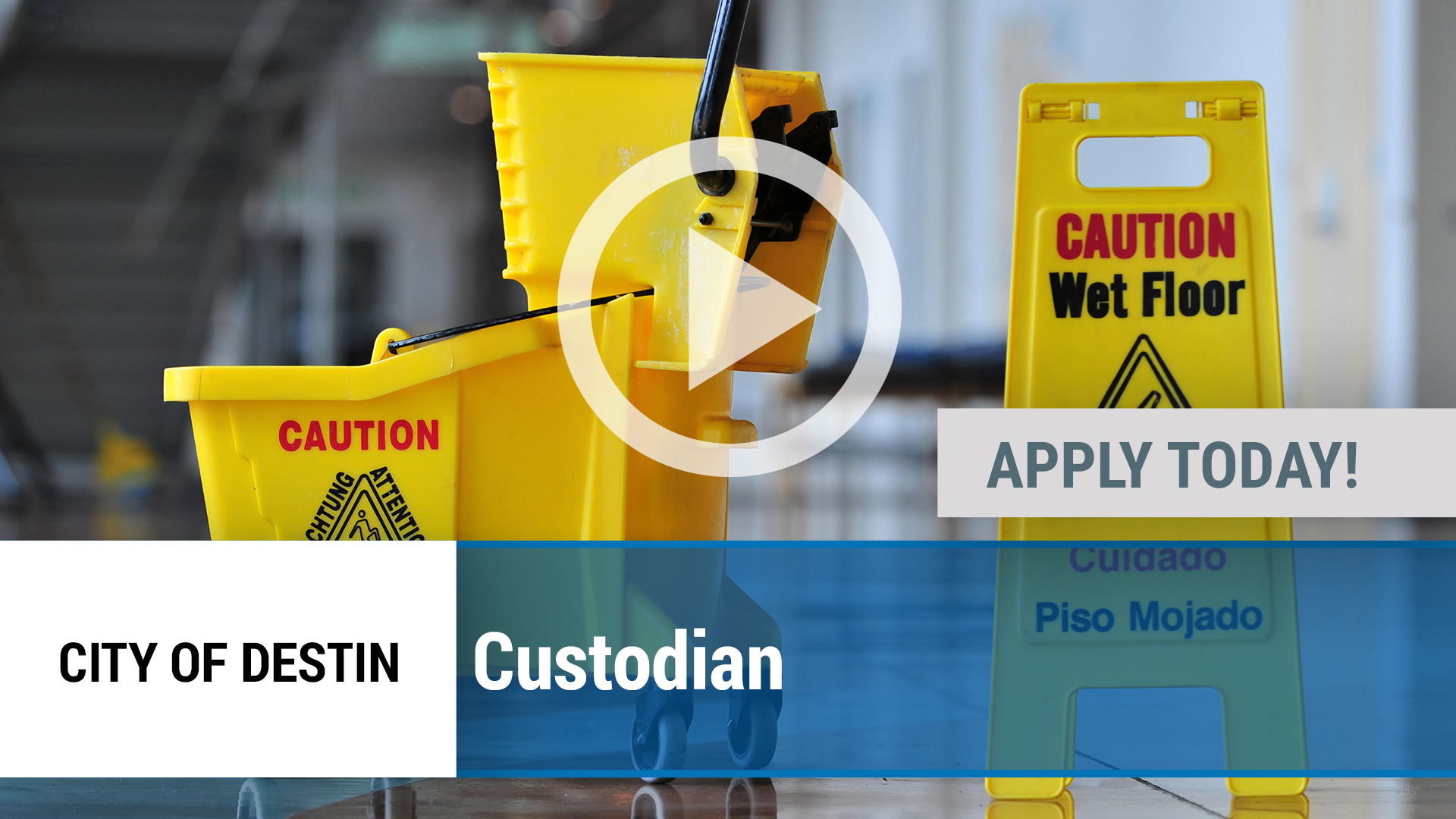 Watch our careers video for available job opening Custodian in Destin, FL