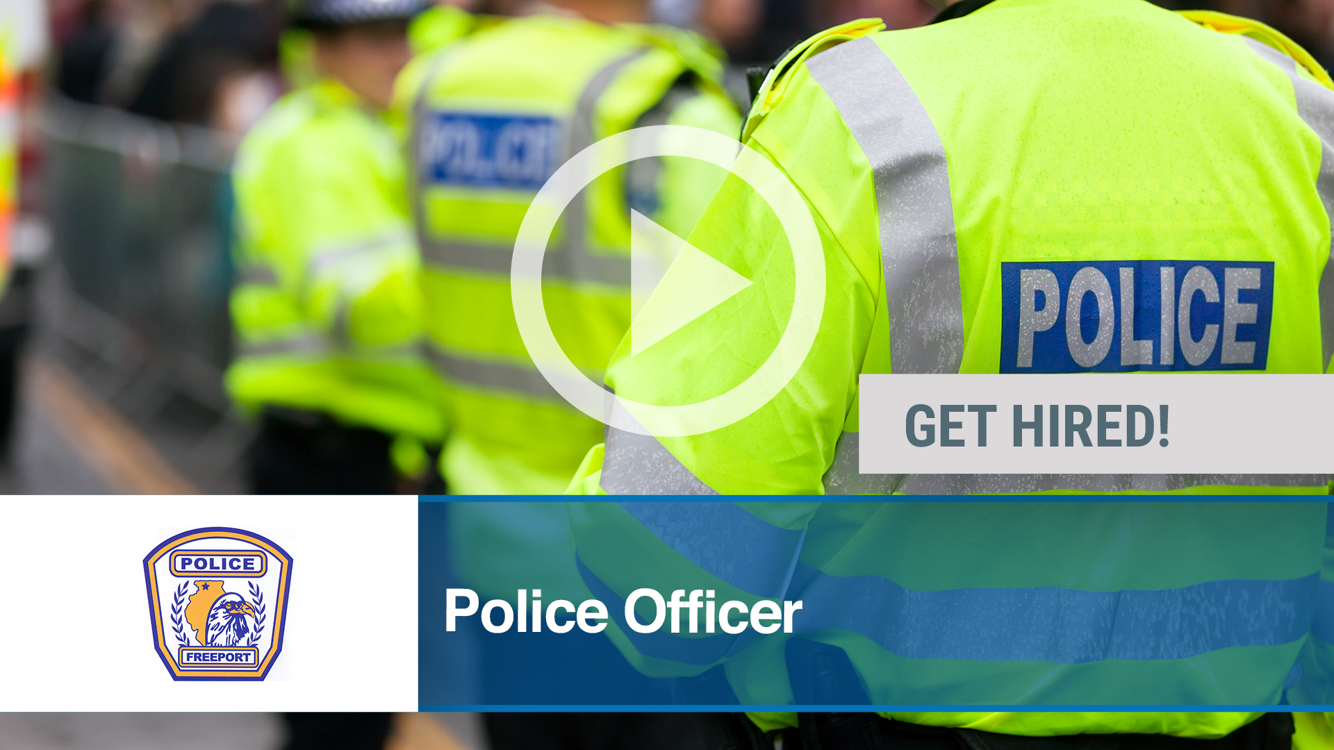 Watch our careers video for available job opening Police Officer in Freeport, IL