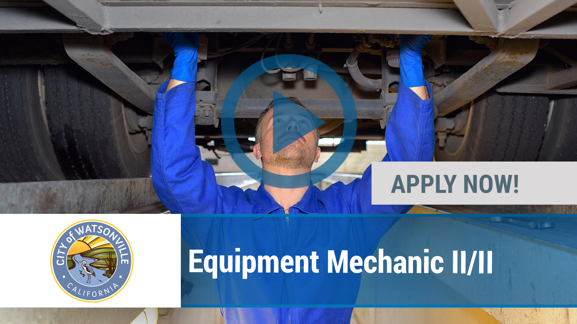 Watch our careers video for available job opening Equipment Mechanic II_II in Watsonville, CA