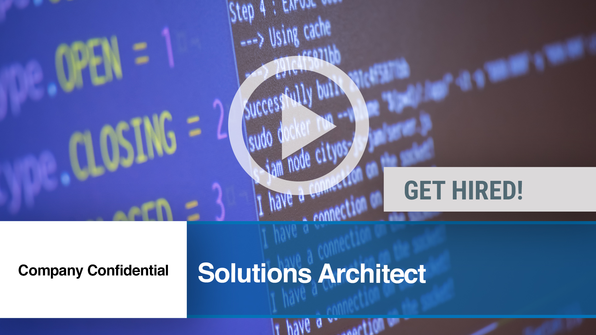 Watch our careers video for available job opening Solutions Architect in Rockford, IL