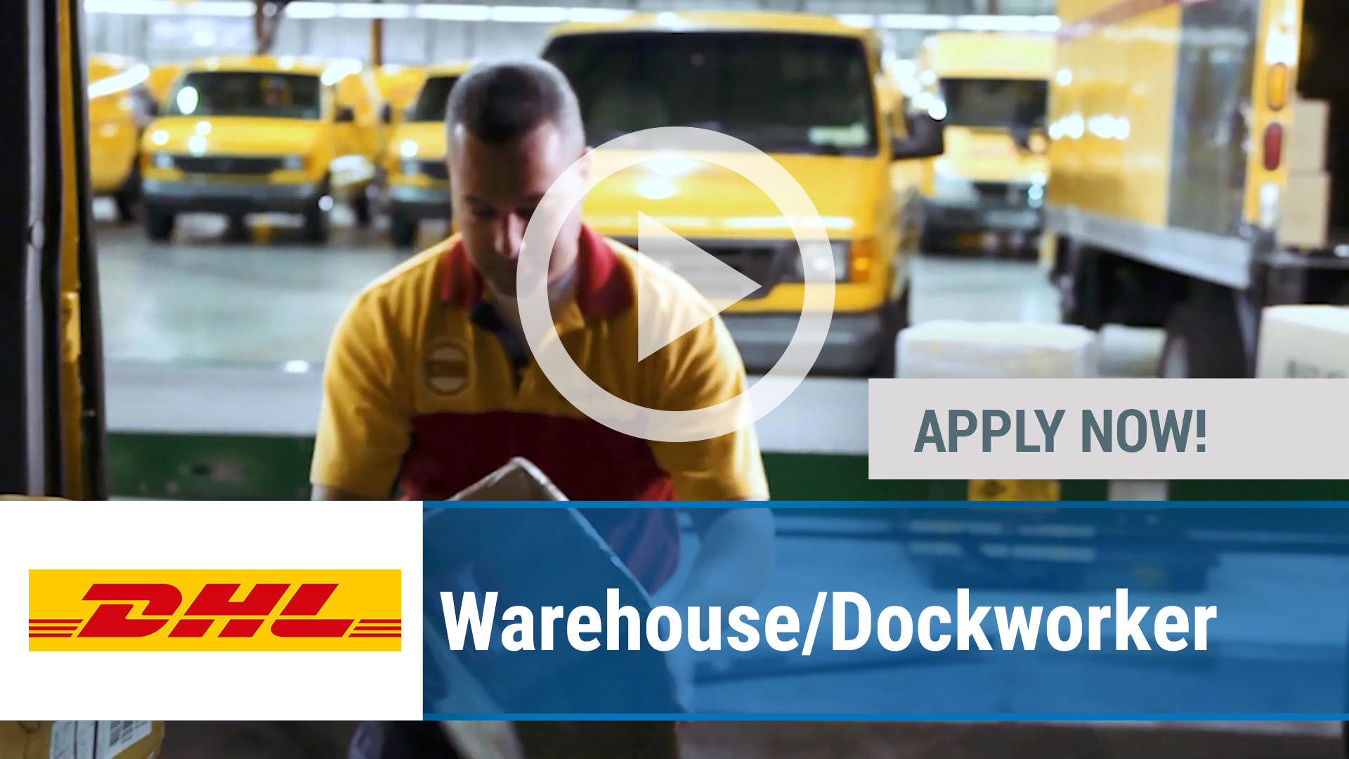 Watch our careers video for available job opening Warehouse_Dockworker in Chicago, IL, USA
