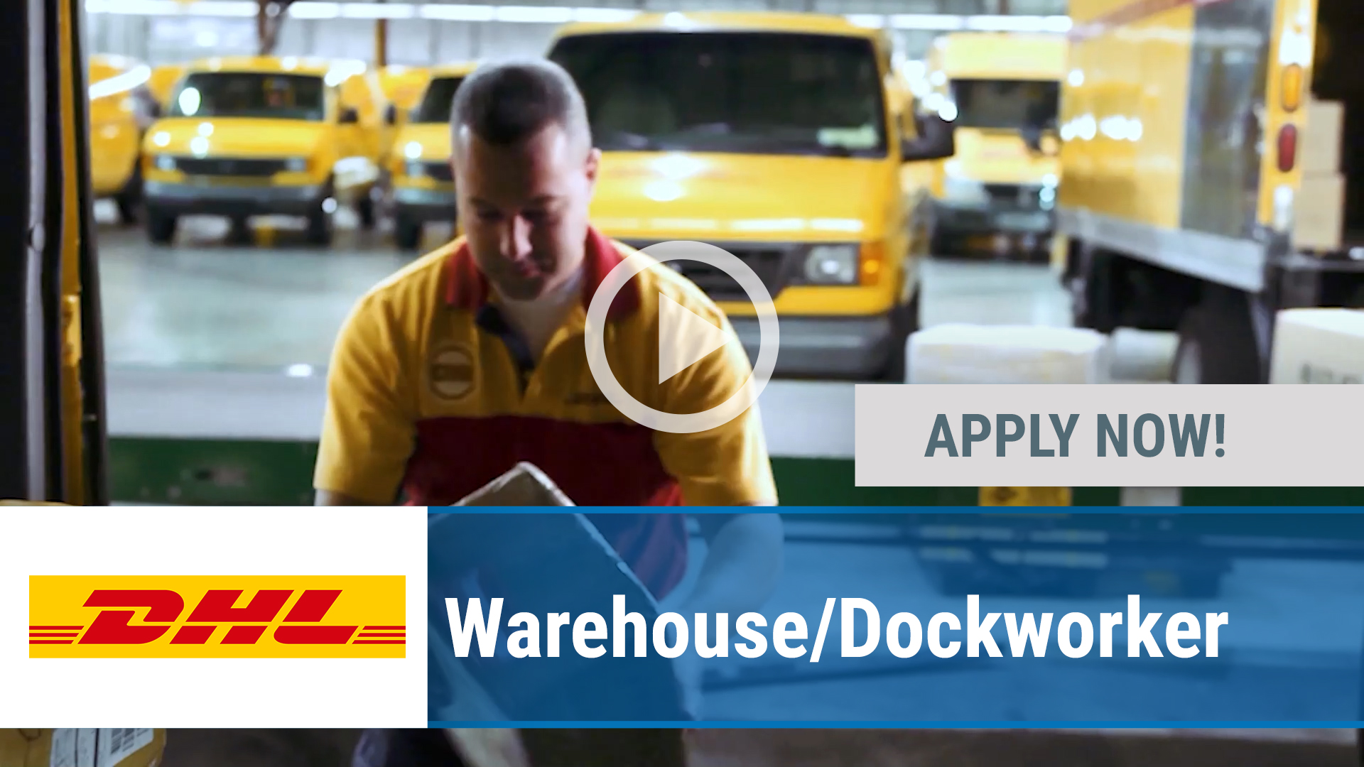 Watch our careers video for available job opening Warehouse_Dockworker in Multiple