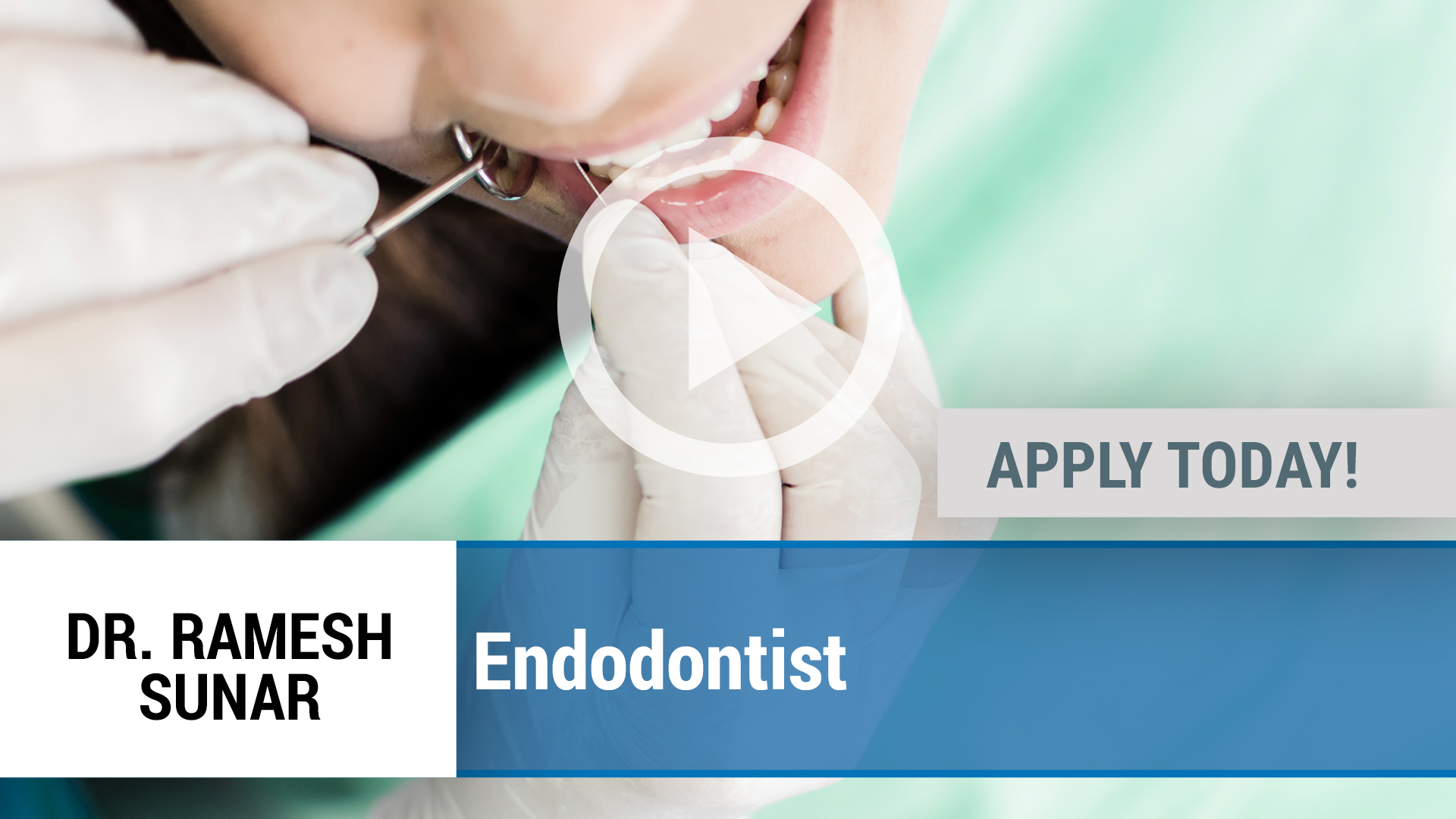 Watch our careers video for available job opening Endodontist in Charlotte, NC, USA