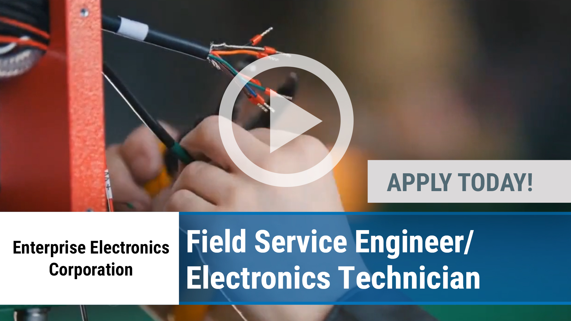 Watch our careers video for available job opening Field Service Engineer_Electronics Technician in Enterprise, AL