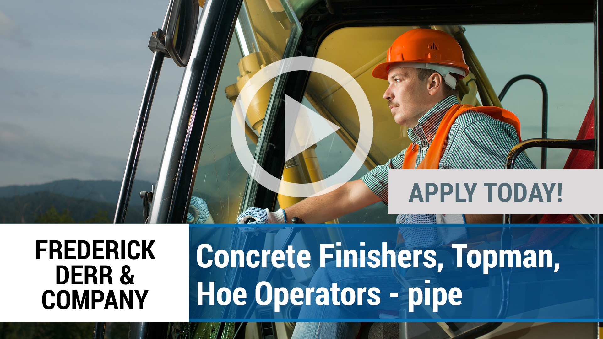 Watch our careers video for available job opening Concrete Finishers, Topman, Hoe Operators - pipe in Sarasota, FL