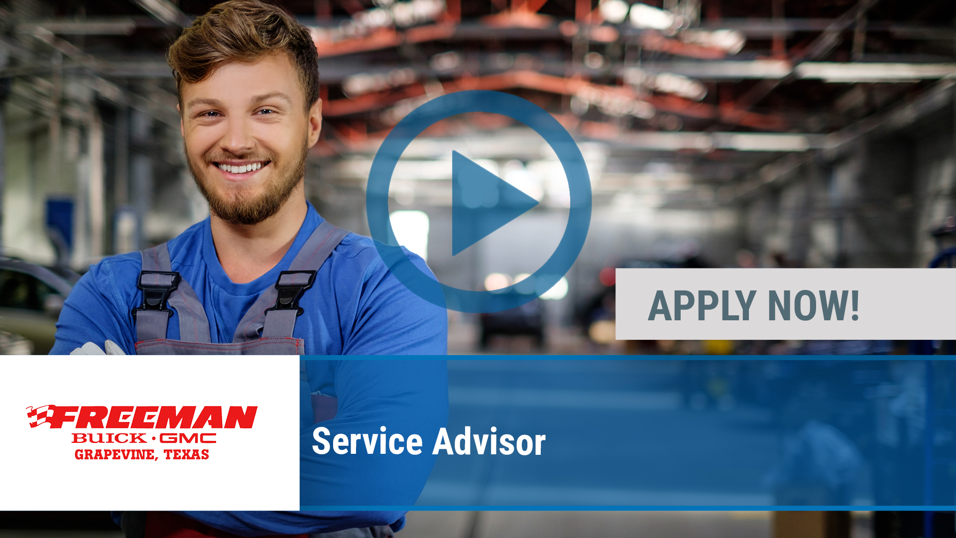 Watch our careers video for available job opening Service Advisor in Grapevine, TX