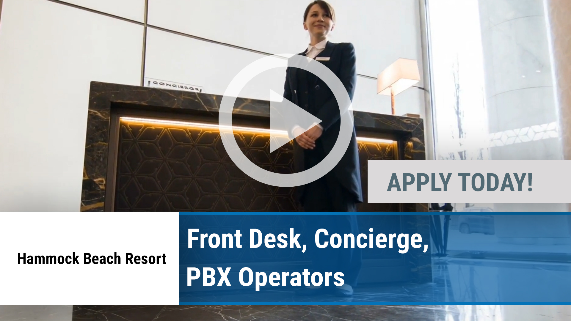 Watch our careers video for available job opening Front Desk, Concierge, PBX Operators in Jacksonville, FL