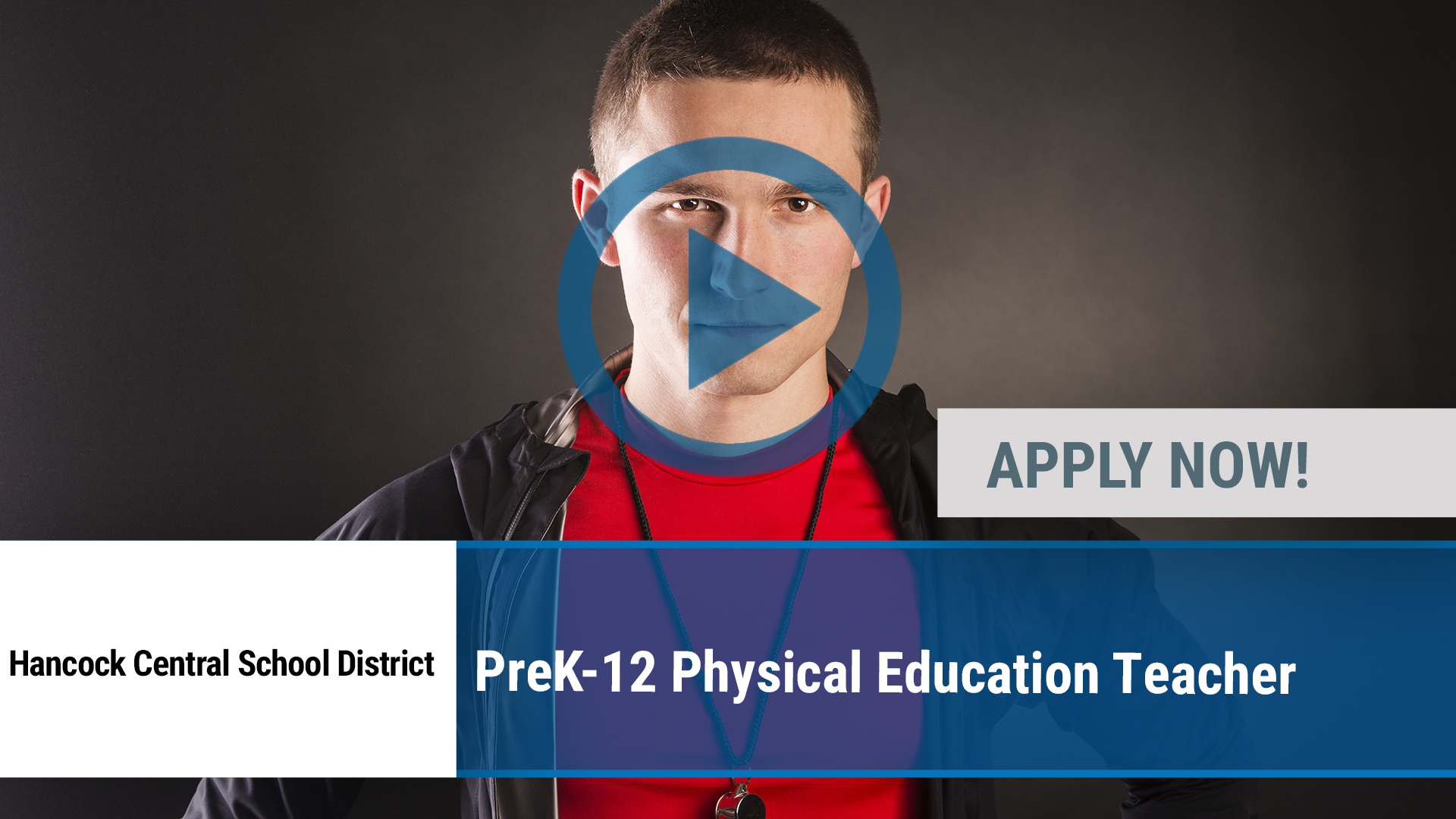 Watch our careers video for available job opening PreK-12 Physical Education Teacher in Hancock, NY