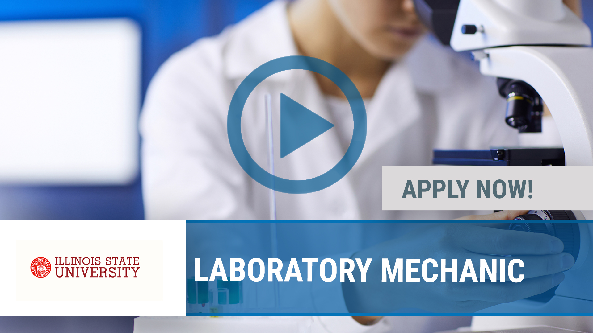 Watch our careers video for available job opening LABORATORY MECHANIC in NORMAL, IL