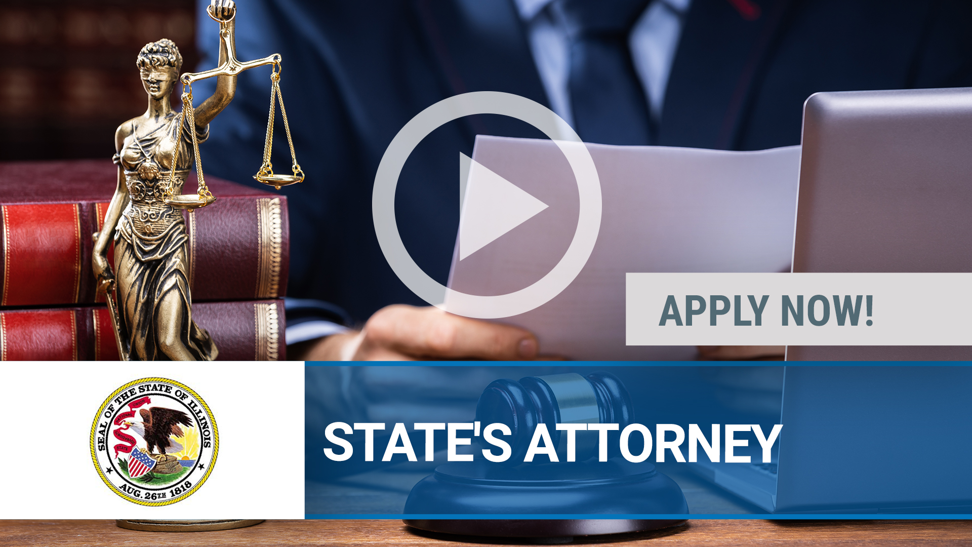 Watch our careers video for available job opening STATE'S ATTORNEY in Galena, IL