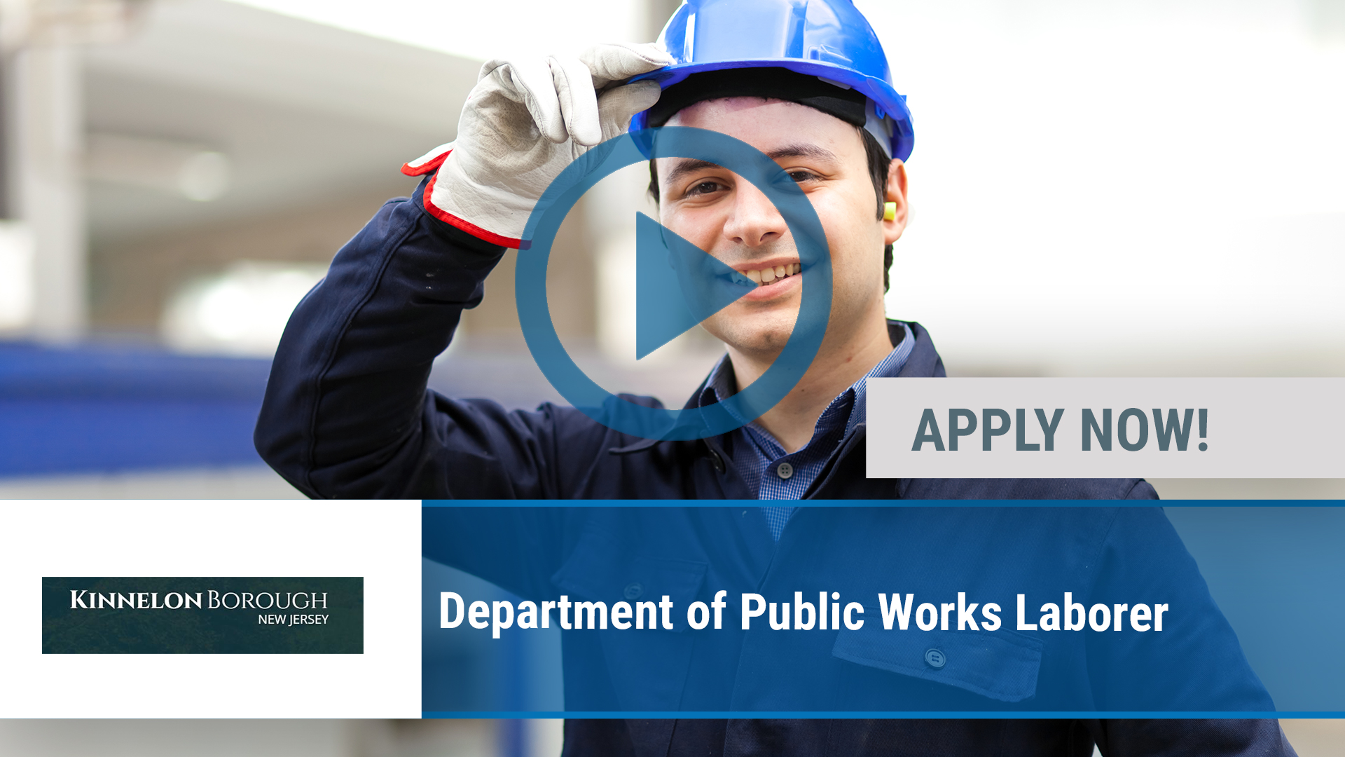 Watch our careers video for available job opening Department of Public Works Laborer in Kinnelon, NJ