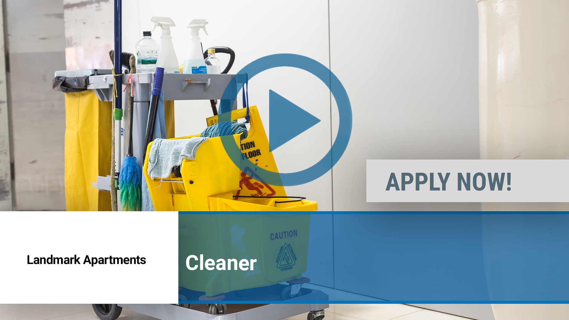 Watch our careers video for available job opening Cleaner in Peoria, IL