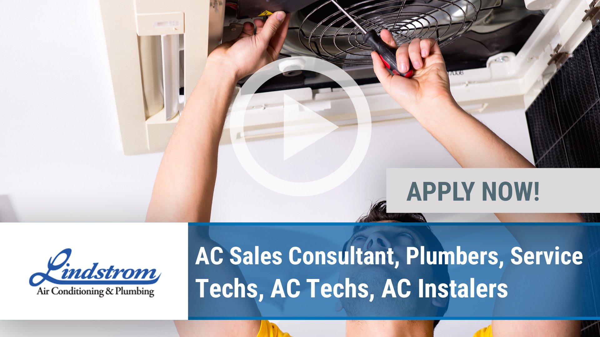 Watch our careers video for available job opening AC Sales Consultant, Plumbers, Service Techs, AC  in Pompano Beach, FL