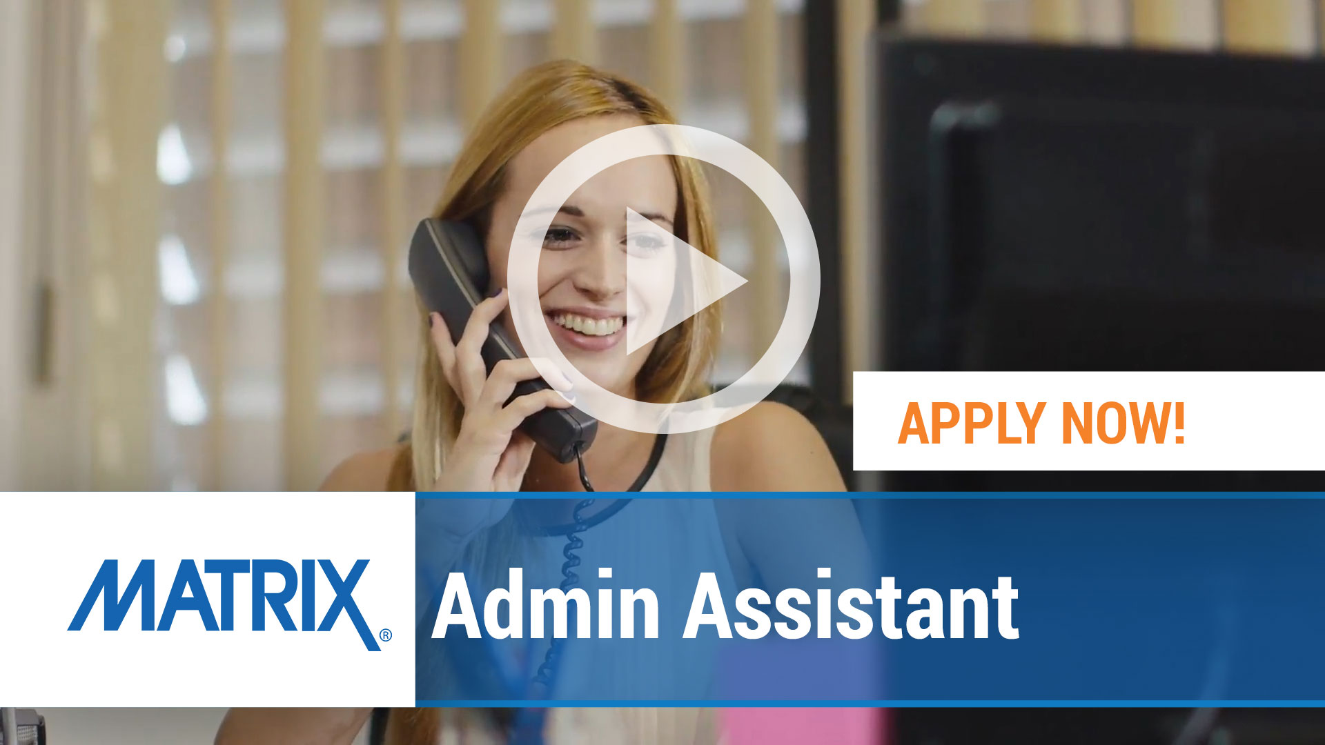 Watch our careers video for available job opening Admin Assistant in Varies