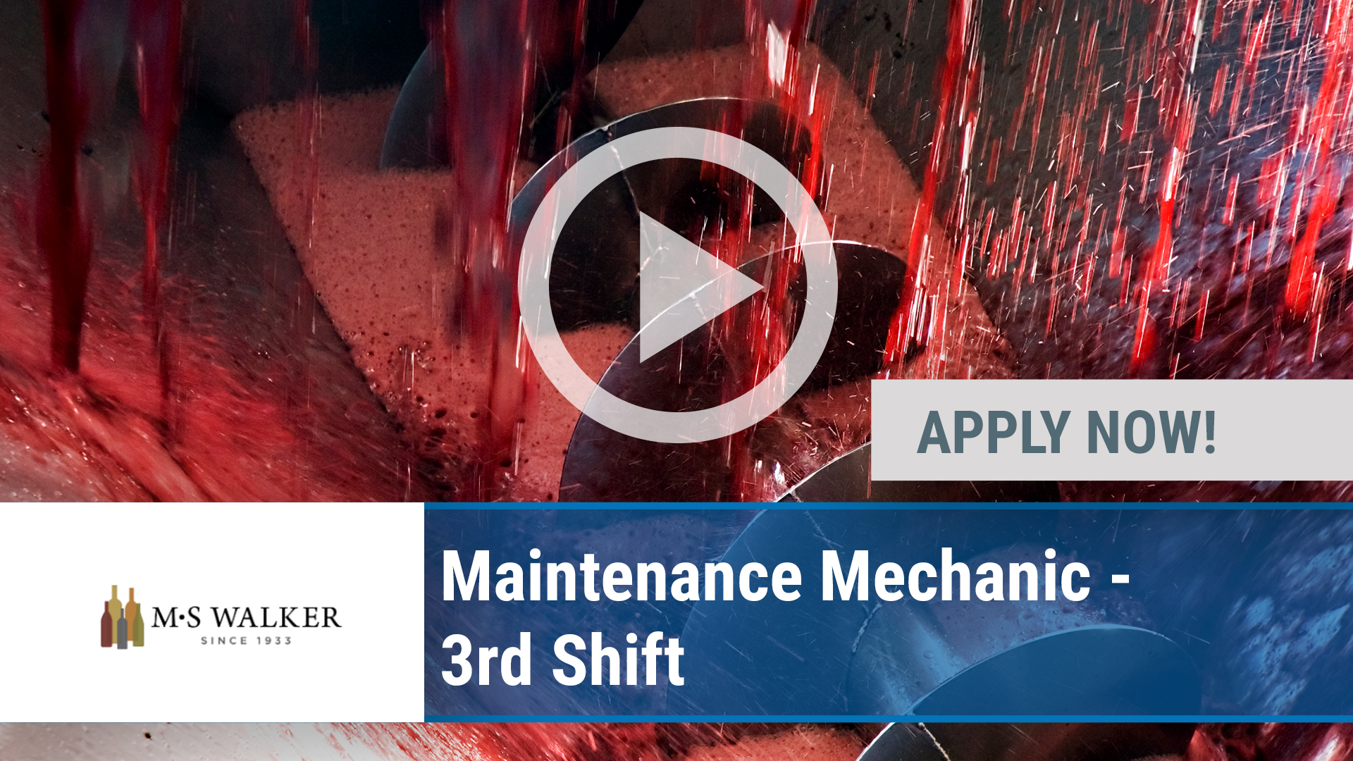 Watch our careers video for available job opening Maintenance Mechanic - 3rd Shift in Norwood, MA