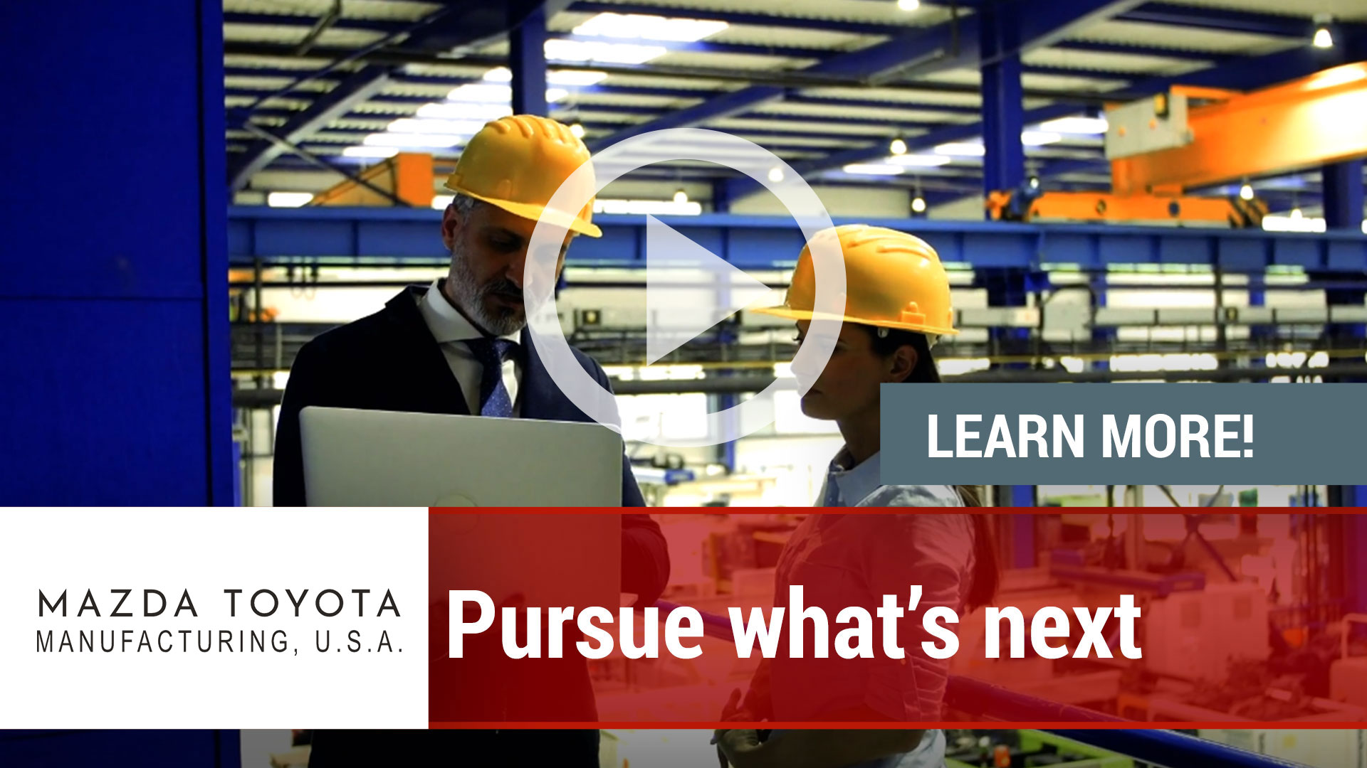 Watch our careers video for available job opening Mazda Toyota Manufacturing, calling Hunstville ou in Huntsville, AL, USA