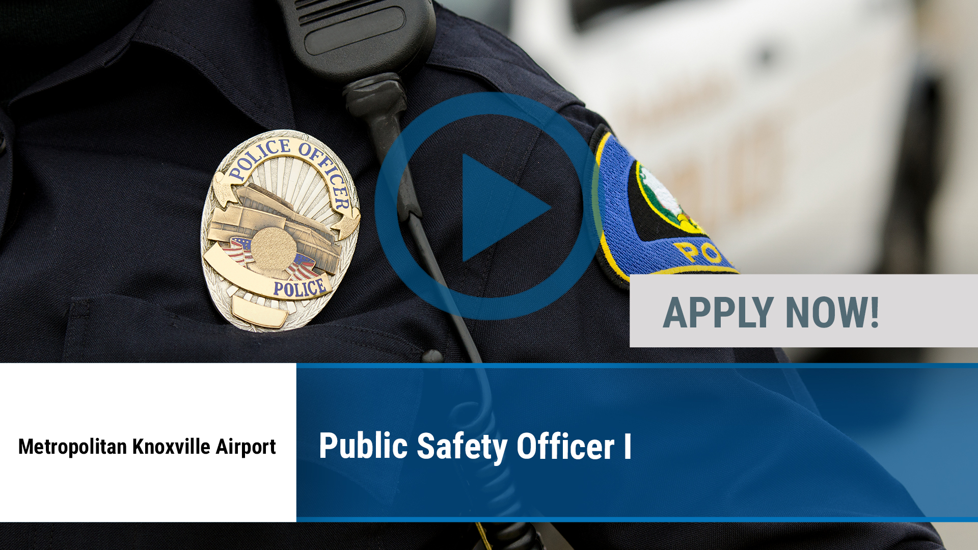 Watch our careers video for available job opening Public Safety Officer I in Alcoa, TN